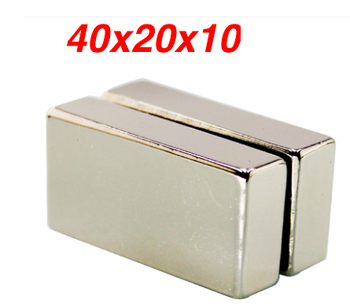10pcs Super powerful Neodymium magnet strong N50 Block Magnet 40x20x10 mm Strong Rare Earth magnetsmm magnet 40*20*10MM image