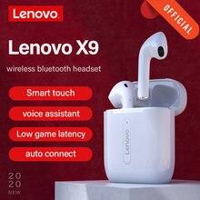 Lenovo X9 Draadloze Hoofdtelefoon Bluetooth Headset Touch Control Hifi Stereo Oortelefoon Ultralichte Bt 5.0 Mini Draadloze Oordopjes X9