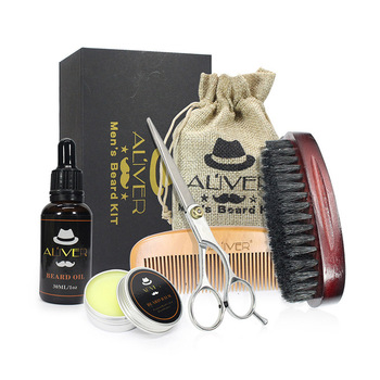 Newly Men Beard Care Grooming Trimming Kit Unscented Beard Conditioner Oil Mustache for Shaping Growth CTN88 1