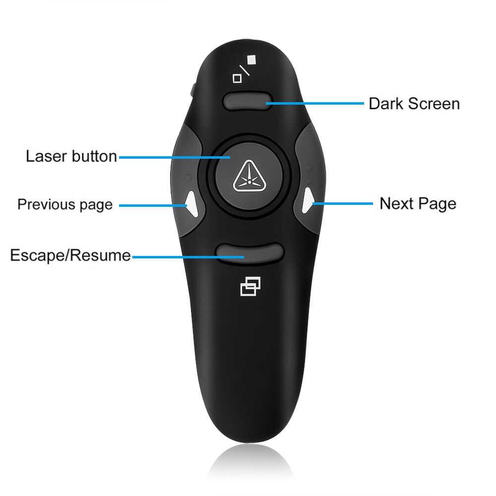 Kebidu Горячая 2,4 ГГц беспроводной ведущий красный лазерный указатель ручка USB приемник RF пульт дистанционного управления Page Turn PPT Powerpoint презентация