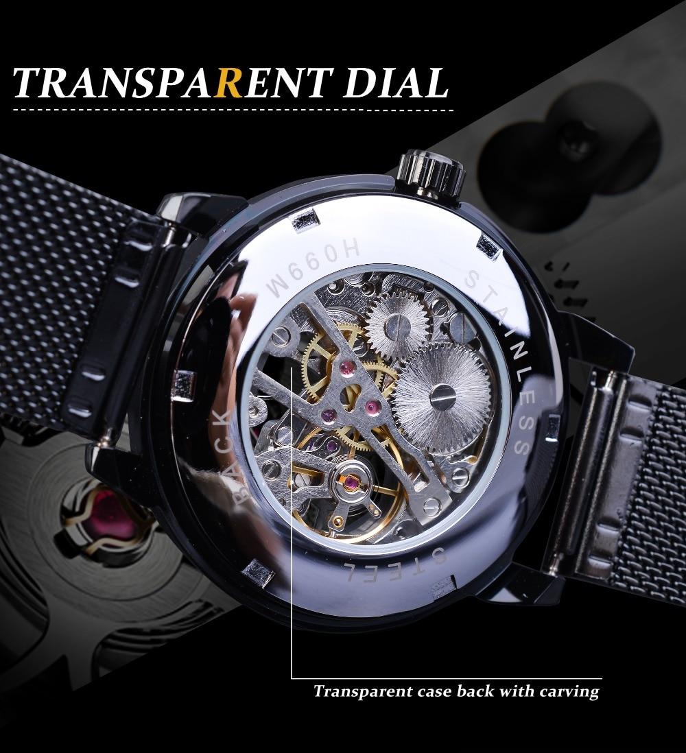 Hbc92dcf43b95431bbce9a4c59366efa4o Forsining Retro Fashion Design Skeleton Sport Mechanical Watch Luminous Hands Transparent Mesh Bracelet For Men Top Brand Luxury
