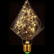 Tianfan светодиодные лампы Винтажный стиль лампа Эдисона Пирамида