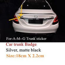 Car Emblems Styling Accessories Decals For Mercedes AMG GLA GLC GLE GLS GT A C E G S Class W177 W210 W211 3D Badge Sticker