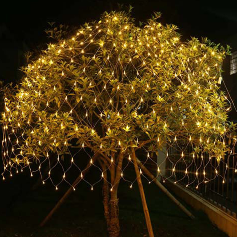 1.5x1.5M/2x2M/2x3M Icicle LED Net Light Courtyard Waterproof Flick String LED Christmas Tree-wrap Garden Outdoor Garland Lights