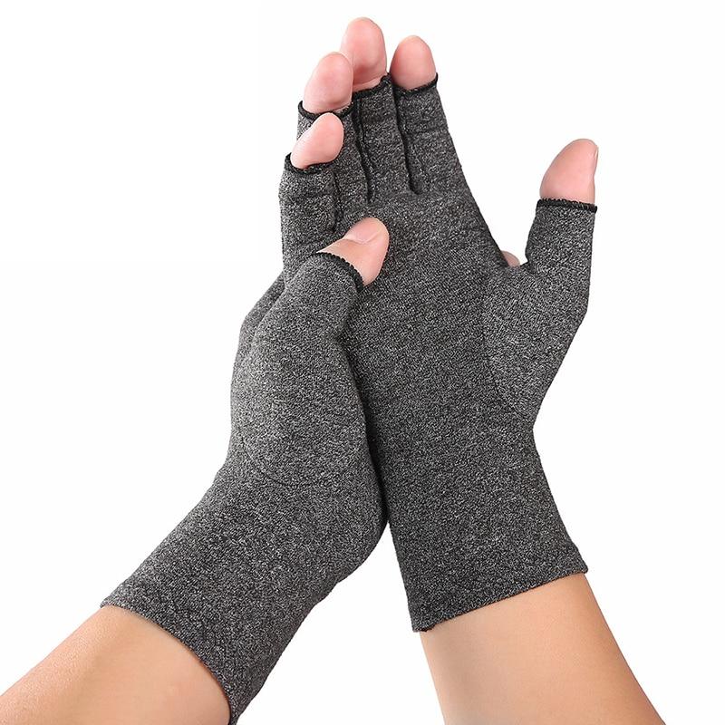 Guanti Magnetic Health Compression Therapy guanti artrite guanti senza dita compressione reumatica mani anti-artrite