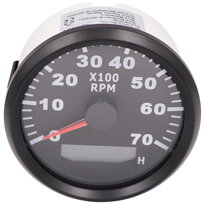 3 4 6 8 10 12 Cylinder Engine Tachometer for Auto Outboard Motor Car Boat Combination hour meter tach 7000RPM REV Counter 12 24V