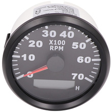 Engine Tachometer Combination Rev Counter Auto-Outboard-Motor Boat 7000RPM 3 for Car