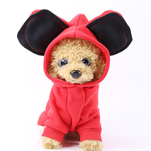 Gran oreja mascota gato perro Sudadera con capucha ropa invierno cálido cachorro gatito traje ropa