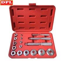 17 pçs rolamento de roda corrida selo bush driver master tool conjunto eixo alumínio conjunto automóvel