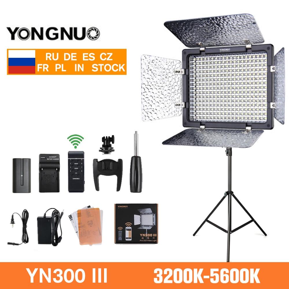 Yongnuo YN300 III YN-300 III светодиодный видео светильник 3200k-5600K CRI95 камера фото светильник ing для студии видео