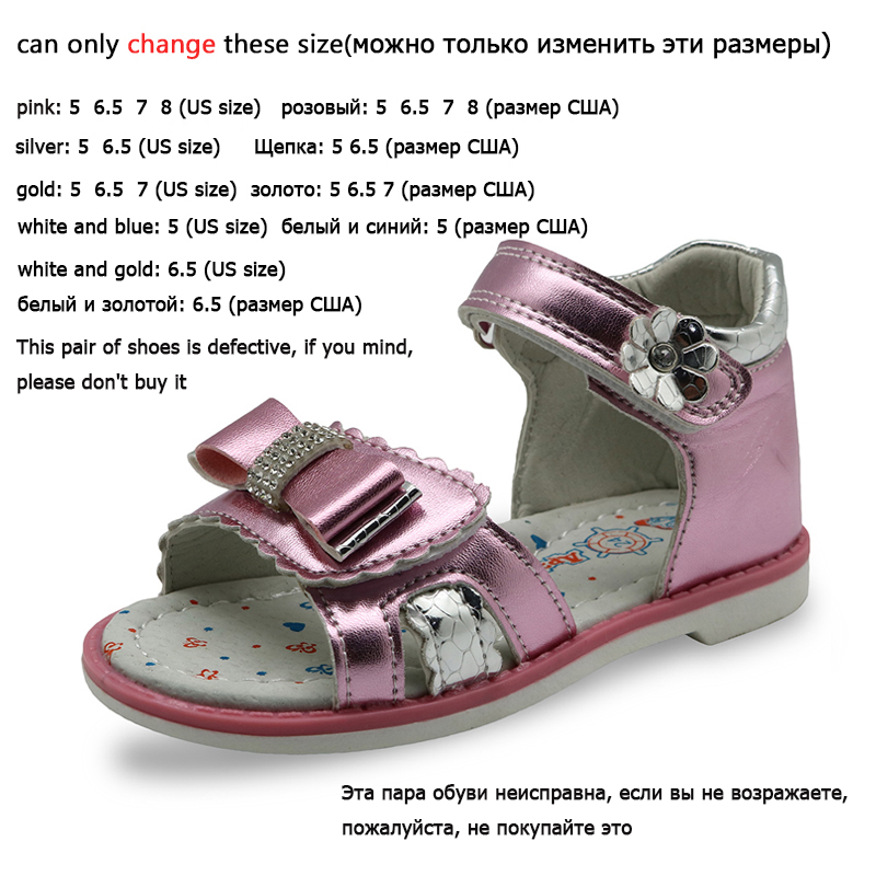 Apakowa 2019 New Kids Summer Shoes Girls Sandals With Arch Support Princess Rhinestone Design Kids Sandal Girls Orthopedic Shoes