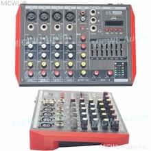MG6 Bluetooth Portable Audio Mixer USB DJ Sound Mixing Console MP3 Jack 6 Channel Karaoke 48V Karaoke KTV Party