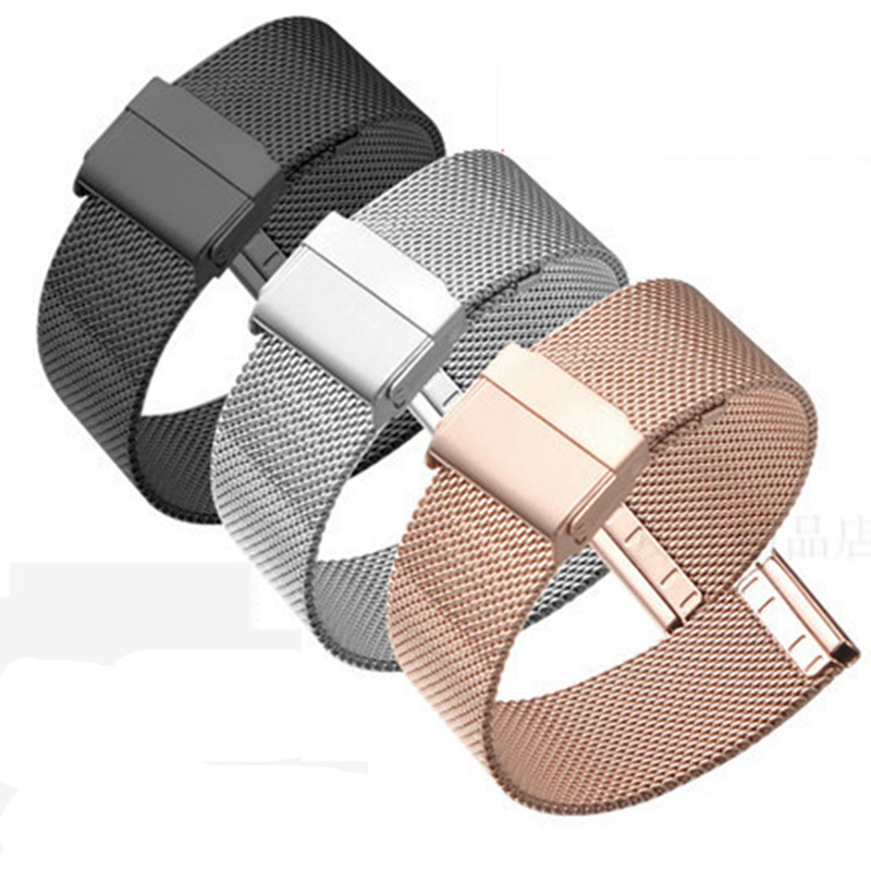 12/14/16/18/20/22mm Watch Strap Metal Mesh Stainless Steel Wristwatch Band Women Men Bracelet  Watch Band Fashion  Watch Strap