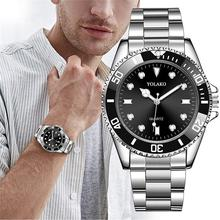 2019 Luxury Men Fashion Military Stainless Steel Sport Quartz Analog Wrist