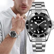 2019 Luxury Men Fashion Military Stainless Steel Sport Quartz Analog Wrist