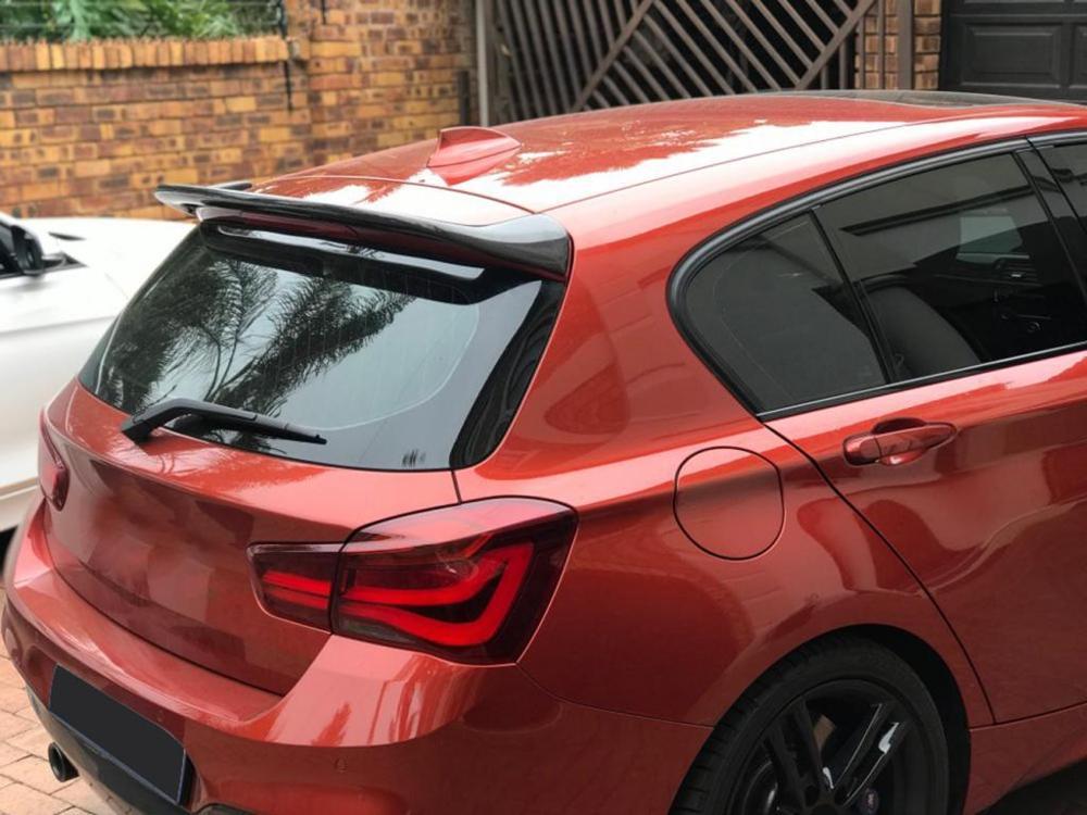 For BMW 1 Series F20 Carbon Fiber Spoiler F20 Rear Window Roof Spoiler Tail Wing M135i 118i 120i 125i 128i 2012 -2018