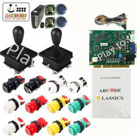 Arcade game 60 in 1 Game DIY kit PCB Complete fittings for Arcade JAMMA games with Arcade Joystick Microswitch Buttons 2 Players