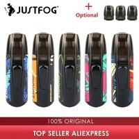 Новый набор цветов JUSTFOG MINIFIT Pod Vape Kit с аккумулятором 370 мАч и картриджем 1,5 мл pod system pod vape Kit vs Drag Nano/Kubi