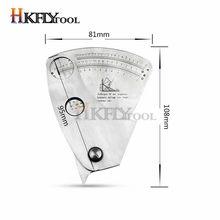 Règle d'essai de taille d'angle de jauge de soudure de forme de ventilateur d'acier inoxydable de 0-20mm