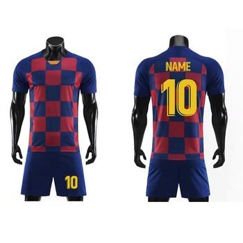 2020 Customize Football Jersey Adult Soccer Jersey Clothes Set Boys Girls Kids Training Uniforms Training Set