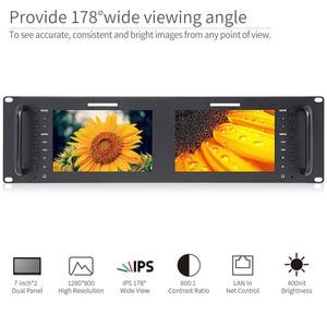 Image 5 - Feelworld Monitor de montaje en Rack LCD, D71 H Dual, 7 pulgadas, 3RU, IPS, 1280x800, HDMI, portátil, 2 pantallas, Monitor de transmisión