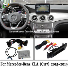 Reverse-Camera-Kit Screen Cla C117 Mercedes-Benz Backup Rear-View for with Decoder-Update