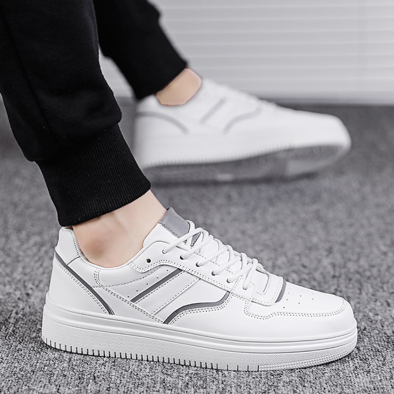 Buy 2020 Flange Reflect Light Classic Small White Shoes Motion Leisure Time Teenagers Male Skate Shoes Sneakers Zapatos Hombre