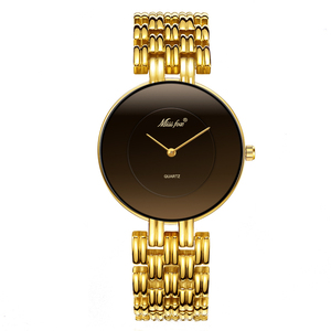Image 2 - MISSFOX 41mm Black Minimalist Watch Super Slim Cheap Womens Watches Water Resistant Wristwatch Female Simple Clock For Women