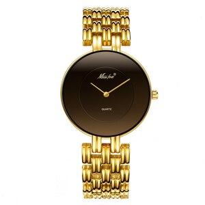 Image 2 - MISSFOX 41mm שחור מינימליסטי שעון סופר Slim זול נשים שעונים מים עמיד שעוני יד נקבה פשוט שעון לנשים