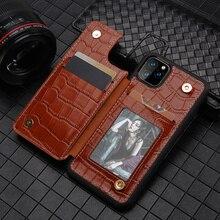 جديد جلد طبيعي الهاتف المحفظة حقيبة لهاتف أي فون 11 11 برو ماكس X XS ماكس XR 7 8 7 Plus 8 plus فتحة للبطاقات المسامير الغطاء الخلفي