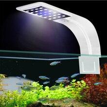Супер яркий светодиодный светильник для аквариума ing светодиодный светильник для выращивания растений 5 Вт/10 Вт/15 Вт водные лампы для пресной воды водонепроницаемый зажим для аквариума