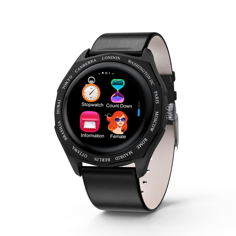 New V18 Smart Bracelet Watch Full Touch Screen Contrast Color Stitching Strap Measuring Heart Rate Sphygmomanometer Step Bracele