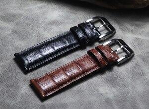 El yapımı timsah deri watchband 21 22MM 20MM deri kayış, retro tarzı PAM bilek bilezik Metal saat kemer aksesuarları