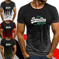 Новинка лета 2021, модная черная Мужская Повседневная футболка с 3D принтом, футболки, одежда с коротким рукавом, мужская повседневная футболк...