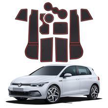 LFOTPP Car Door Groove Pad For Golf MK8 2020 Anti Slip Door Gate Slot Mats Auto Interior Accessories Red White Blue 10 Pcs