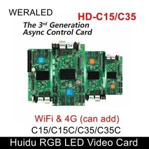 Image 1 - WERALED הבחירה הראשונה Huidu Asynchronization HD C15/HD C15C/HD C35 מלא צבע LED וידאו כרטיס, יכול להוסיף אלחוטי WIFI/3G/4G מודולרי