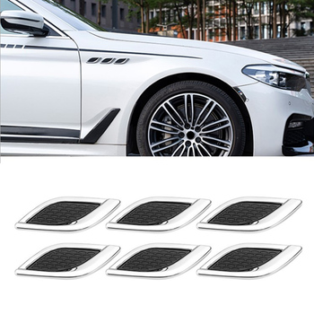 Fashion Car shark gill simulation air outlet side air outlet engine hood fine decoration Modified Car Styling Popular Sticker 1