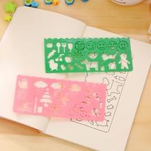 4pcs/set Drawing Template Creative Kids Crafts Plastic Ruler Educational Drawing Pads