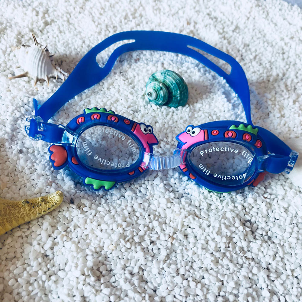 Children Swimming Glasses With Glasses Case Baby Swim Eyeglasses Quality Kids Swimming Goggles Cartoon Silicone Anti Fog