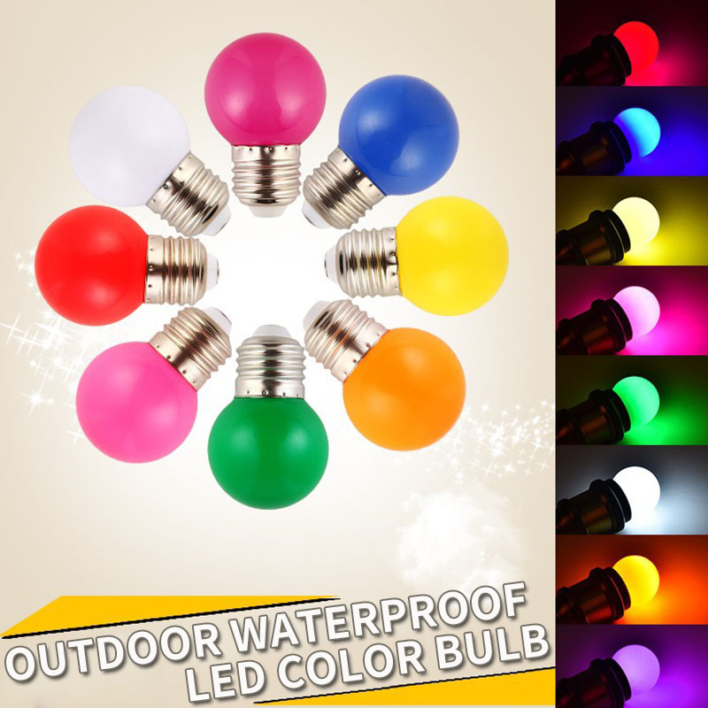 10pcs Led Bulb Lamp 3W Colorful Bulb Lamp E27 B22 RGB Led Light SMD 2835 Flashlight Home Decor light AC 220V Globe Bulbs