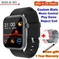 Смарт-часы P9 для мужчин и женщин, полностью Смарт-часы, встроенные в игру IP67, водонепроницаемый монитор сердечного ритма и сна для iOS Android phone