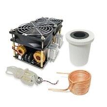 2500 Вт ZVS индукционный нагреватель высокочастотная индукционная нагревательная печатная плата расплавленный металл+ катушка+ тигель+ насос