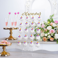Acrylic Doughnut holder Macaroon stand fitting 9/20 pcs dessert display tools transparent home decoration storage racks