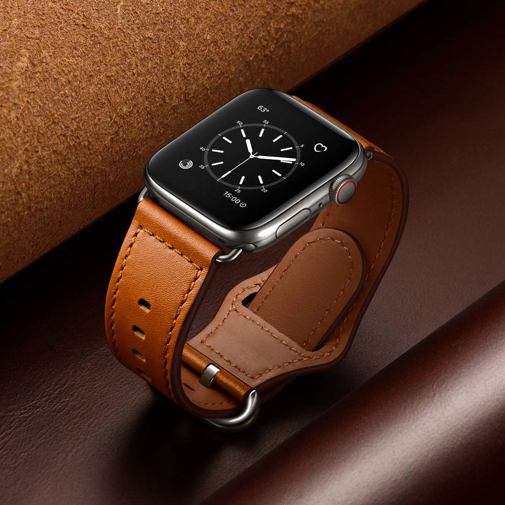 Leather Loop Band For Apple Watch Strap 44mm 40mm IWatch Band 42mm 38mm Genuine Leather Watchband Bracelet Apple Watch 5 4 3 2 1