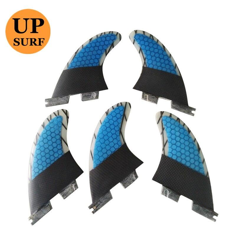 2pcs/3pcs/5pcs Surfing FCS2 K2.1 Fins Honeycomb Fibreglass Fin Carbon Fiber Surf FCSII Tri-quad Fins Blue