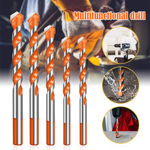 6 Pcs Ultimate Brill Bits Multi-Material Triangle Drill Bit Diamond Set for Tile Concrete Brick Glass Plastic Wood Stone 4-12mm