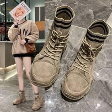 Новинка 2020 осенние женские ботильоны модные брендовые замшевые