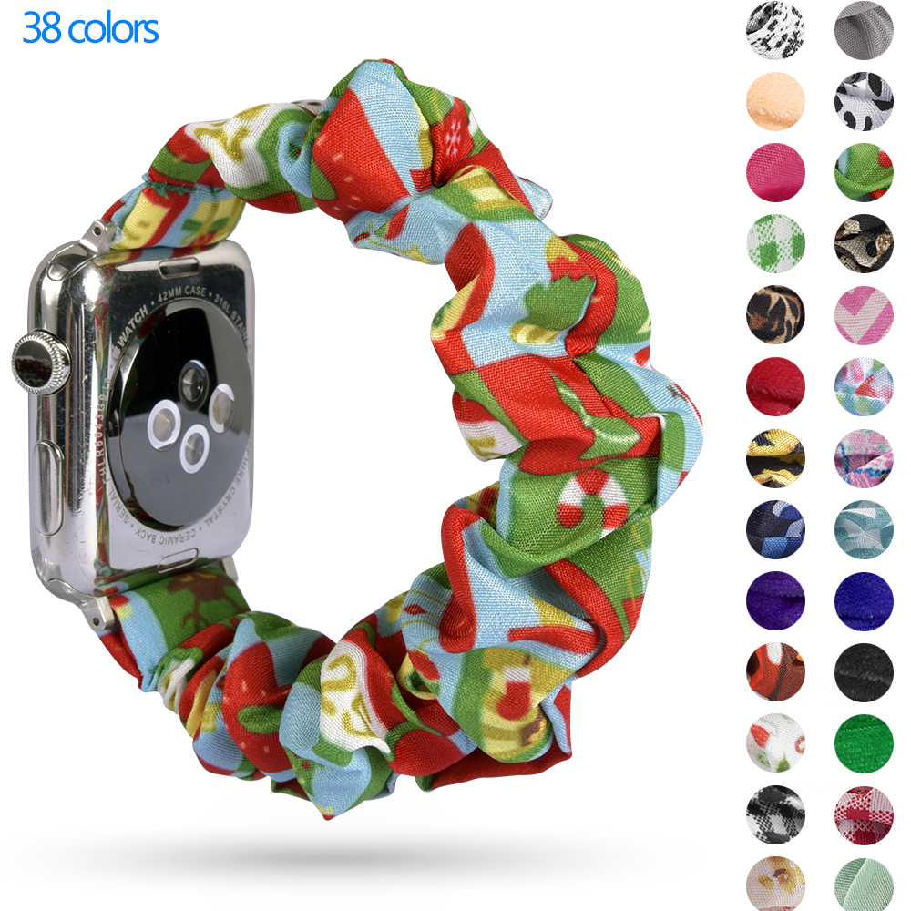 Elastic Strap For Apple Watch Band 40mm 44mm IWatch Band 38mm 42mm Women Bracelet Apple Watch 5 4 3 2 1
