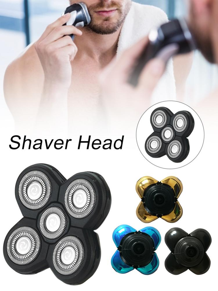 Replacement Shaver Head With 5 Blades Razor Accessories For Skull And Butterfly Shavers Poleet Replacement Blate Frame Shaver
