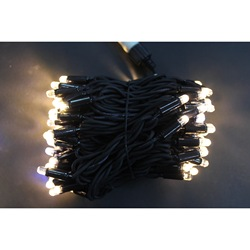 Garland Strand Street for decoration 10 m, 220 in the cord black color, 100 led, 80 white тёплых and 20 flashing